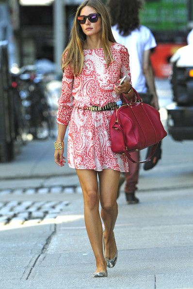 olivia-palermo-and-asos-skater-dress-in-paisley-print-with-lace-up-sleeve-gallery